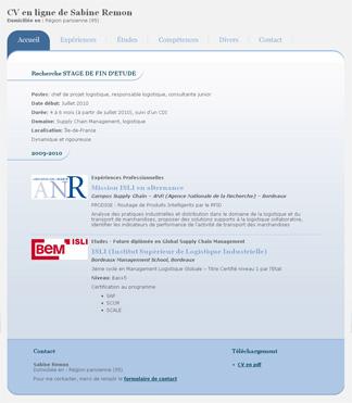 Site CV de Sabine REMON